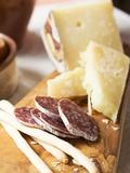 Antipasto Rustico (Grissini  Salami  Pecorino and Parmesan)