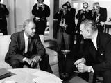 Roy Wilkins  Lyndon D Johnson - 1963
