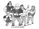 """A group of tough guys Beneath reads """"The Noogie Kings"""" - New Yorker Cartoon"""