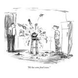 """""""He has some food issues"""" - New Yorker Cartoon"""