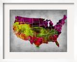 Usa Watercolor Map 4