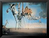 La tentation de Saint-Antoine, 1946 Reproduction encadrée par Salvador Dalí