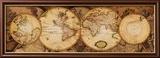 Carte du monde: Nova Totius Terrarum Orbis Reproduction encadrée