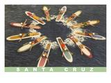 Women on Paddleboards  Sana Cruz