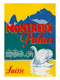 Travel Poster for Montreux  Switzerland