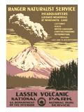 Lassen Volcanic National Park Travel Poster