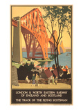 Travel Poster for Flying Scotsman  Forth Bridge