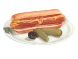 Hot Dog  Pickles  Olive