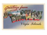 Greetings from St Thomas  Virgin Islands
