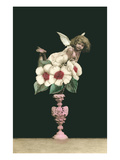 Cupid Perched on Flowers