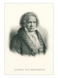 Engraving of Beethoven