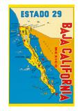 Map of Baja California  Mexico