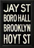 New York City Brooklyn Jay St Vintage RetroMetro Subway Poster