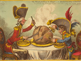 The Plumb-Pudding in Danger  or State Epicures Taking Un Petit Souper