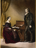 Robert and Clara Schumann  C1850