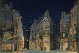 Set design for Act 2 of La Bohème  Opera by Giacomo Puccini