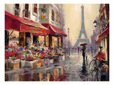 Paris au mois d'avril Reproduction d'art par Brent Heighton