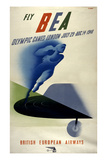 Poster for British European Airways (BEA) Featuring the 1948 London Olympic Games