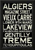 New Orleans Neighborhoods Vintage Subway Style RetroMetro Travel Poster