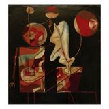 Marionetten (Bunt auf Schwarz) (Marionettes (Colour on Black))  1930