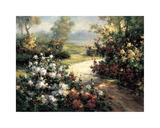 Pathway of Flowers Giclée par Leila