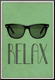 Relax Retro Sunglasses Art Poster Print