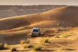 Four Wheel Drive on Desert Dunes  Wahiba  Oman  Middle East