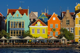 The Dutch Houses at Sint Annabaai in Willemstad  UNESCO Site  Curacao  ABC Is  Netherlands Antilles