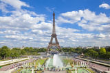Eiffel Tower and the Trocadero Fountains  Paris  France  Europe