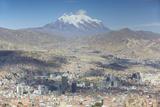 View of Mount Illamani and La Paz  Bolivia  South America