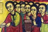 Murals in 16th Century Christian Monastery and Church of Azuwa Maryam  Zege Peninsula  Ethiopia