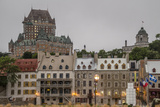 Quebec City with Chateau Frontenac on Skyline  Province of Quebec  Canada  North America