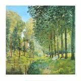 Le Repos au Bord du Ruisseau , 1872 Reproduction d'art par Alfred Sisley