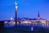 City Skyline from City Hall at Dusk  Kungsholmen  Stockholm  Sweden  Scandinavia  Europe