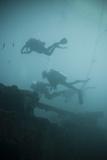 Scuba Divers Wreck Diving  Southern Thailand  Andaman Sea  Indian Ocean  Southeast Asia  Asia