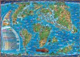 Map of the Prehistoric World  Laminated Educational Poster