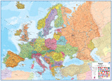 Europe 1:43 Wall Map  Laminated Educational Poster
