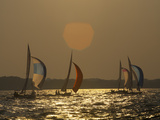 Sailboats Race During the Wednesday Night Race Series Near Annapolis