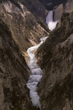 A Waterfall in the Yellowstone River in the Grand Canyon of the Yellowstone