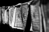 Black and White Buddhist Prayer Flags Papier Photo par Jonathan Irish