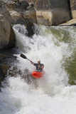 A C-1 Paddler Goes Down the Spout on the Potomac River