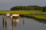 A Marsh and Boat Dock Near the York River
