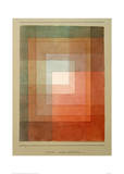 White Framed Polyphonically Giclée par Paul Klee