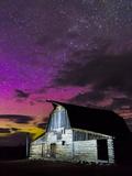 Northern Lights Above Moulton Barn