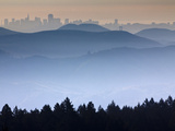 He View from the Summit of Mt Tamalpais Looking Back Towards the City of San Francisco  Ca