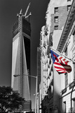 World Trade Center Globe Avec La Tour One World Center En Construction Papier Photo par Philippe Hugonnard