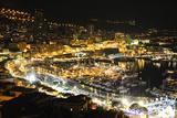 Monaco Travel Advertising - Landscape of the city at Night - Monaco - Monte Carlo - Europe