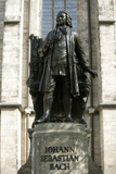 Statue of J S Bach on Grounds of St Thomas Church  Leipzig  Germany
