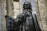 Statue of J S Bach  Courtyard of St Thomas Church  Leipzig  Germany