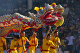 Dragon Dance Performance Celebrating Chinese New Year  City of Iloilo  Philippines